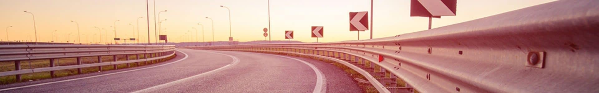 trazado carretera conducción