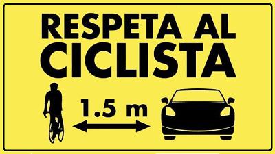 Distancia mínima de seguridad con ciclistas