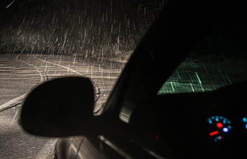 Los códigos de color en conducción con nieve