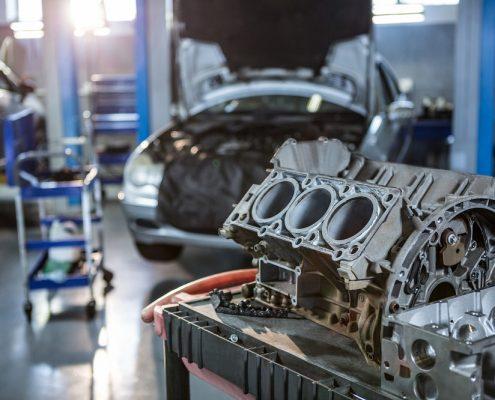 motor en el taller